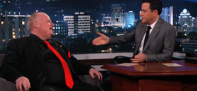 Video Licks: Kimmel takes Some Comedy Swings at Toronto Gov. Rob Ford