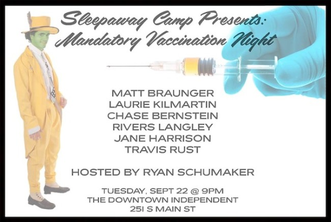 Quick Dish: SLEEPAWAY CAMP Fights The Pro-Vax Fight TONIGHT 9.22