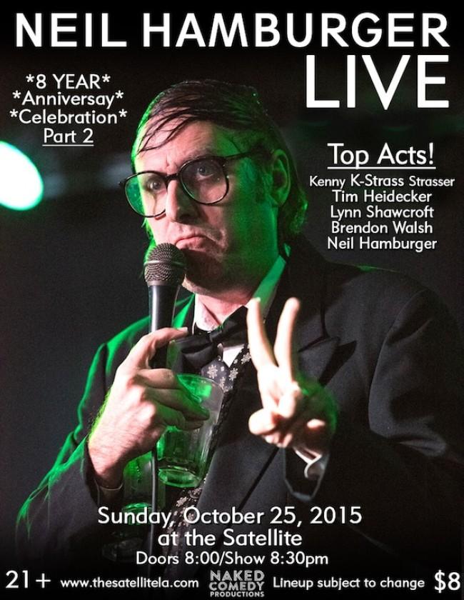Quick Dish: NEIL HAMBURGER LIVE 8 Year Anniversary Celebration Pt. 2 10.25 at The Satellite