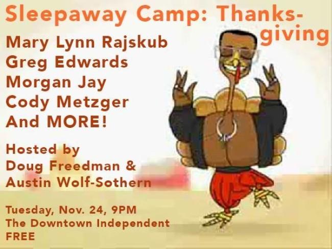Quick Dish: A Sleepaway Camp Thanksgiving TONIGHT 11.24 in DTLA