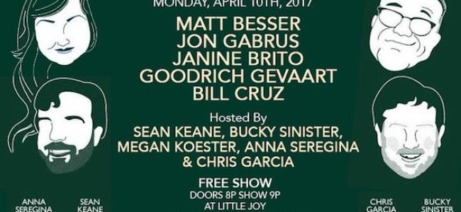 Quick Dish LA: THE BUSINESS LA ft. UCB Co-Founder MATT BESSER Tonight at Little Joy
