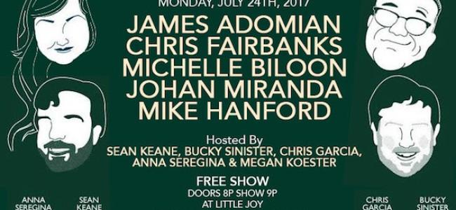 Quick Dish LA: THE BUSINESS LA is Happening 7.24 at Little Joy ft. Adomian! Fairbanks! & More!