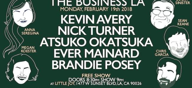 Quick Dish LA: Get Down to THE BUSINESS LA 2.19 at Little Joy
