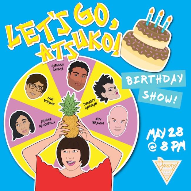 Quick Dish LA: LET'S GO, ATSUKO! A (woke) Japanese Game Show 5.28 at Dynasty Typewriter