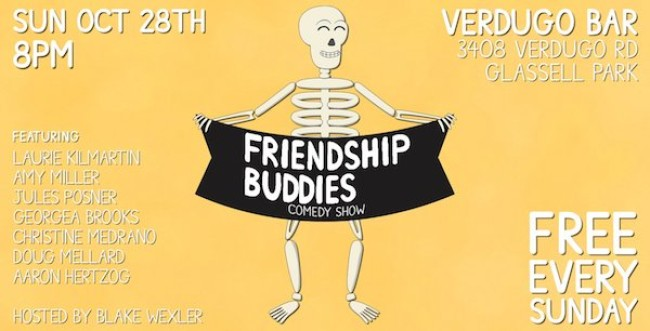 Quick Dish LA: FRIENDSHIP BUDDIES 10.28 at Verdugo Bar