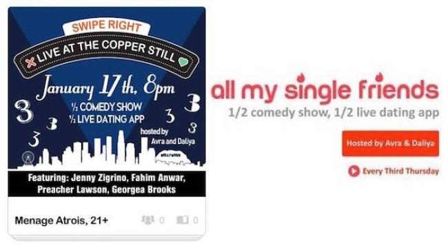 Quick Dish LA: ALL MY SINGLE FRIENDS Three Years of Love Tonight at The Copper Still
