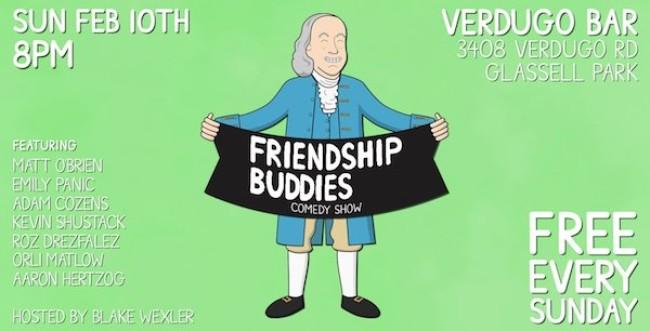 Quick Dish LA: Laugh with FRIENDSHIP BUDDIES Tonight at Verdugo Bar
