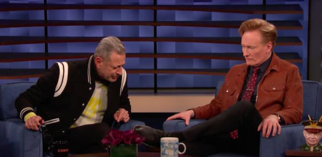 "Video Licks: It's All Zucchini Blossoms & ""Grippy Bottoms"" When JEFF GOLDBLUM Visits Conan"