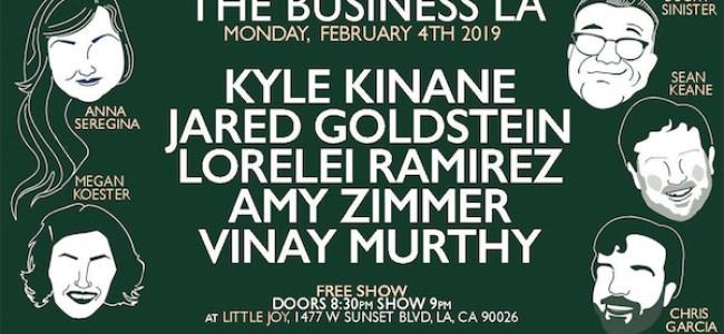 Quick Dish LA: THE BUSINESS LA Tonight at Little Joy ft Kinane! Goldstein! Ramirez! & More!