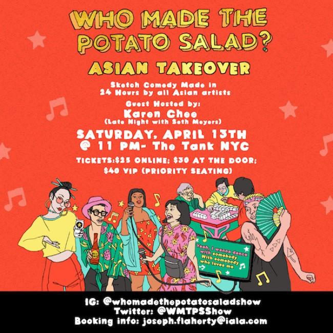 Quick Dish NY: 'WHO MADE THE POTATO SALAD? Asian Takeover' Show Tomorrow at The Tank