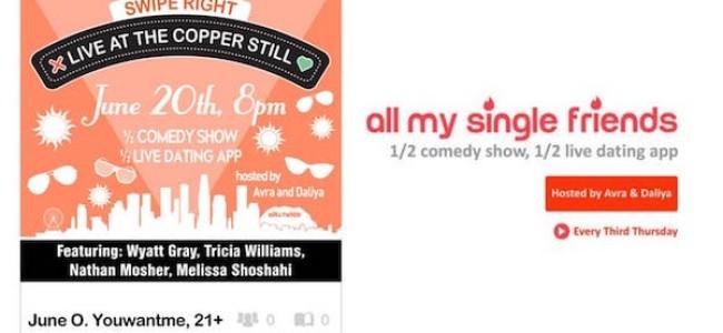 "Quick Dish LA: ALL MY SINGLE FRIENDS ""All June Need Is Love"" Tomorrow at The Copper Still"