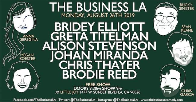 Quick Dish LA: Get Down to THE BUSINESS LA Tonight at Little Joy