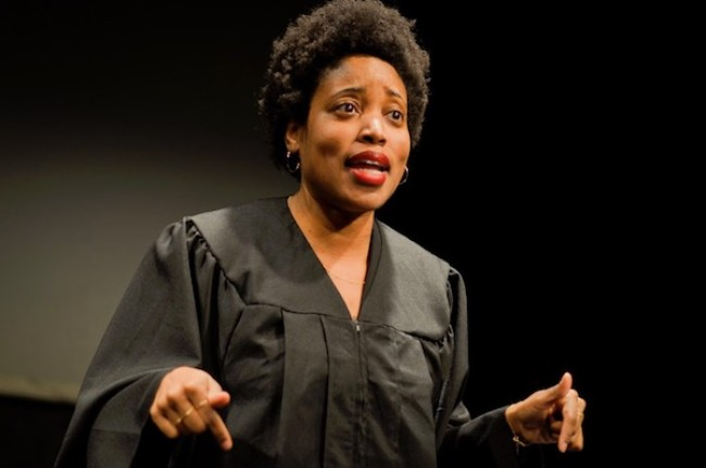 "Quick Dish NY: ""WACK or WOKE?"" Andrea Coleman Judges The Law 10.26 at The Tank"