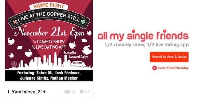 "Quick Dish LA: ALL MY SINGLE FRIENDS ""Pecan You Feel The Love Tonight"" 11.21 at The Copper Still"
