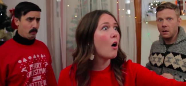 "Video Licks: HUNKS Sketch Gets Footsie in ""Christmas Carols Gone Wrong"""