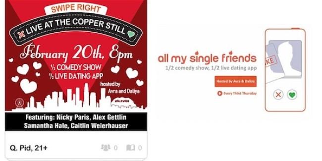 Quick Dish LA: ALL MY SINGLE FRIENDS 'V-Day Recovery' 2.20 at The Copper Still