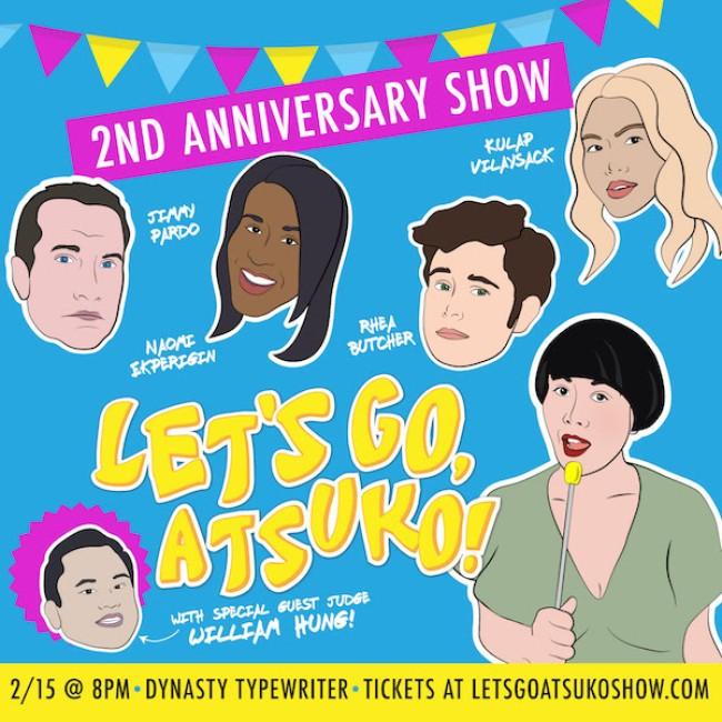 Quick Dish LA: LET'S GO, ATSUKO! 2-Year Anniversary Show TOMORROW at Dynasty Typewriter