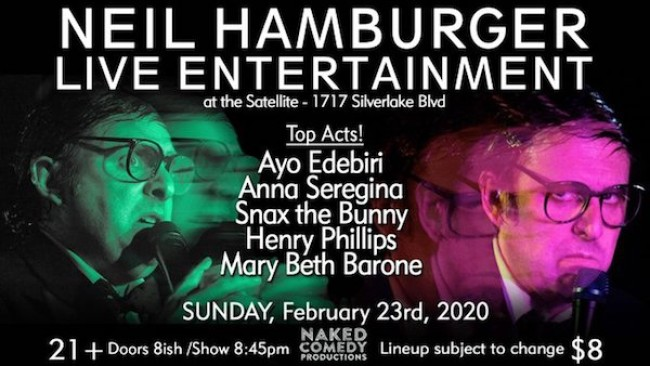 Quick Dish LA: NEIL HAMBURGER LIVE This Sunday at The Satellite