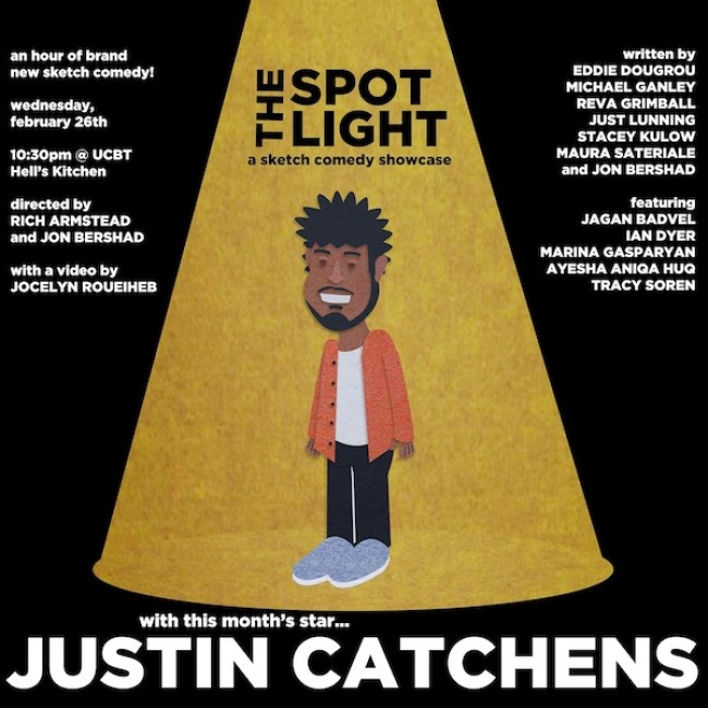Quick Dish NY: THE SPOTLIGHT Starring Justin Catchens TOMORROW at UCBT Hell's Kitchen