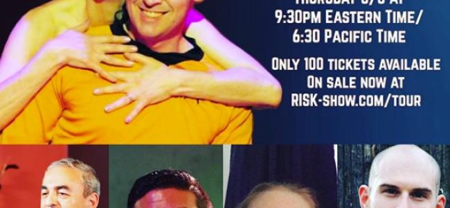 Quick Dish Quarantine: New RISK! Livestream This Thursday 8.6 with Guest Hosts Cyndi Freeman & Brad Lawrence