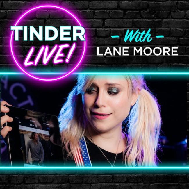 Quick Dish Quarantine: TINDER LIVE! with LANE MOORE Returns for Virtual Emoji-Filled Cheers 12.19