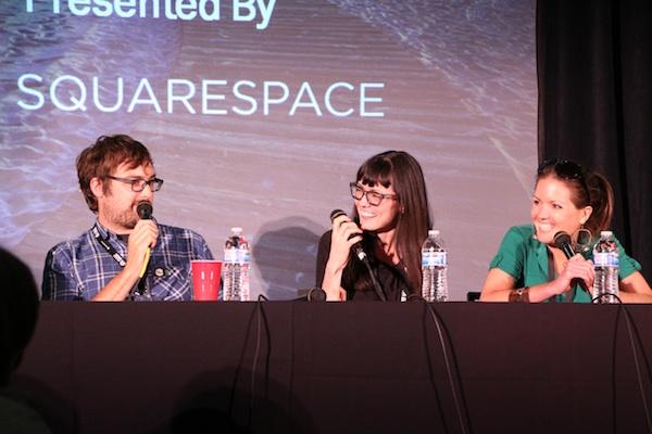 Jonah Ray, April Richardson and Hannah Gansen