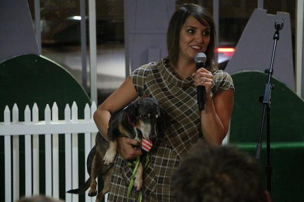 Producer/host Monique Madrid & Comet The Pup